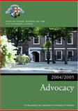 Advocacy 2004-2005, Inns of Court School of Law Staff, 0199272867