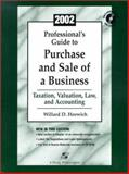Professionals Guide to Purchase and Sale of a Business : 2002 Edition, Horwich, Willard D., 0735532869