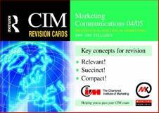 Marketing Communications 04/05 9780750662871