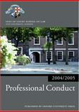 Professional Conduct 2004/2005, Inns of Court School of Law Staff, 0199272905