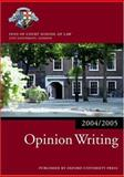 Opinion Writing 2004-2005, Inns of Court School of Law Staff, 0199272913