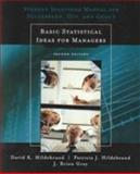 Basic Statistical Ideas for Managers, Hildebrand, David K. and Ott, R. Lyman, 0534382916