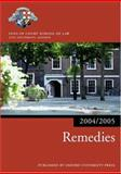 Remedies 2004-2005, Inns of Court School of Law Staff, 0199272921