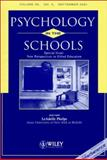 Psychology in the Schools 9780471202929