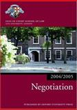 Negotiation 2004/2005, Inns of Court School of Law Staff, 019927293X