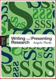 Writing and Presenting Research, Thody, Angela, 1412902932