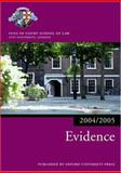 Evidence 2004-2005, Inns of Court School of Law Staff, 0199272948