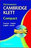 Dictionnaire Cambridge Klett Compact, Cambridge University Press, 0521752965