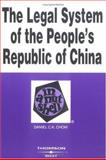 The Legal System of the People's Republic of China in a Nutshell, Chow, Daniel C. K., 0314262970
