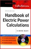 Handbook of Electric Power Calculations, Beaty, H. Wayne, 0071362983