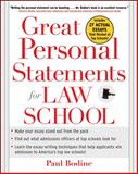 Great Personal Statements for Law School, Paul Bodine, 0071453008
