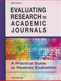 Evaluating Research in Academic Journals, Fred Pyrczak, 1936523027