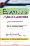 Essentials of Clinical Supervision, Campbell, Jane M., 0471233048