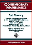 Set Theory, Boise Extravaganza in Set Theory Conference 1992 Boise State universi, 0821803069