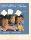 Teaching Special Students in General Education Classrooms, Lewis, Rena B. and Doorlag, Donald H., 0130953075