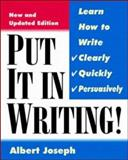 Put It in Writing, Joseph, Albert M., 0070393087