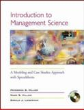 Introduction to Management Science : A Modeling and Case Studies Approach, Hillier, Frederick S. and Hillier, Mark S., 0072503084