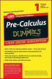 1,001 Pre-Calculus Practice Problems for Dummies Access Code Card (1-Year Subscription), Consumer Dummies Staff, 1118853083