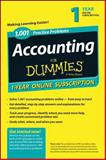 1,001 Accounting Practice Problems for Dummies Access Code Card (1-Year Subscription), Consumer Dummies, 1118853105