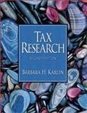 Tax Research and OneDisk CD 2, Karlin, Barbara H., 0131763113