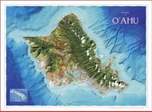 Satellite Topographic Map of Oahu, Hawaii 9780974153131
