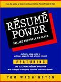 Resume Power, Tom Washington, 0931213134