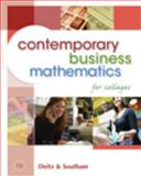 Contemporary Business Mathematics for Colleges (with CD-ROM), Deitz, James E. and Southam, James L., 0324663161