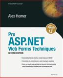 Pro ASP. NET Web Forms Techniques, Homer, Alex, 1590593170