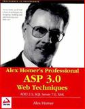 Alex Homer's Professional ASP Web Techniques, Homer, Alex, 1861003218