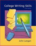 College Writing Skills, Langan, John, 007228322X