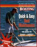 Quick and Easy Boat Maintenance : 1,001 Time-Saving Tips, Lindsey, Sandy, 0071343253