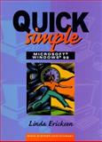Quick, Simple Microsoft Windows 98, Ericksen, Linda, 0130813281