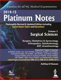 Platinum Notes : Surgical Sciences, Hassan, Ashfaq Ul, 9351523284