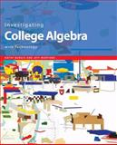 Investigating College Algebra with Technology, Student CD-ROM with Access Code Card, Burgis, Kathy and Morford, Jeff, 0470413301