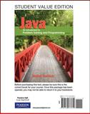Student Value Edition for Java : An Introduction to Problem Solving and Programming, Savitch, Walter, 0132773333