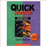 Quick, Simple Microsoft Excel 2000, Ericksen, Linda, 0130813338