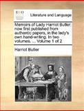 Memoirs of Lady Harriot Butler, Harriot Butler, 1170383343