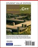 Student Value Edition for Problem Solving with C++, Savitch, Walter, 0132773341