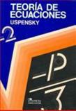 Teoría de Ecuaciones 9789681823351