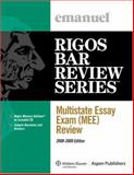 Multistate Essay Exam (Mee) Review, Emanuel, Steven and Rigos, Jim, 0735573352