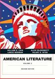 American Literature, Volume II, Cain, William E. and McDermott, Alice, 0134053362