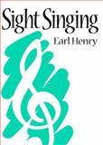 Sight Singing, Henry, Earl, 0131213369