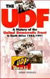 The UDF : A History of the United Democratic Front in South Africa, 1983-1991, Seekings, Jeremy, 0821413368