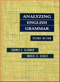 Analyzing English Grammar, Klammer, Thomas P. and Schulz, Muriel R., 0205173365