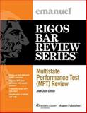 Multistate Perfomance Test (Mpt) Review 2008-2009, Emanuel, Steven and Rigos, James J., 0735573360