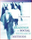 Readings in Social Research Methods, Wysocki, Diane Kholos, 0495093378