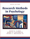Research Methods in Psychology, Elmes, David G. and Kantowitz, Barry H., 0534363393