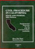 Civil Procedure in CA : State and Federalal Materials for Use W/Civil Procedure Casebooks, Kane, Mary Kane and Levine, David I., 0314153411