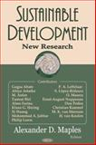Sustainable Development : New Research, Maples, Alexander D., 159454347X