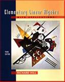 Elementary Linear Algebra with Applications, Hill, Richard, 0030103479
